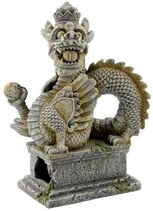 Декорация для аквариума Prime Статуя дракона, пластик, 11х14х20 см