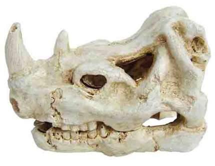 Декорация для аквариума Prime Череп носорога, пластик, 5х7.5х5 см