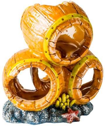 Декорация для аквариума GLOFISH Бочки S, пластик, 8.9х7.9х7.9 см