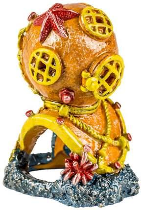 Декорация для аквариума GLOFISH Водолазный шлем, с GLO эффектом, 4х9х7 см