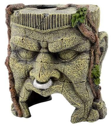 Декорация для аквариума Prime Голова идола, пластик, 12х14х15 см