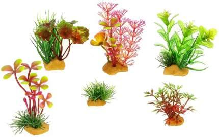Набор искусственных растений для аквариума Prime PR-YS-70401, пластик, 6шт