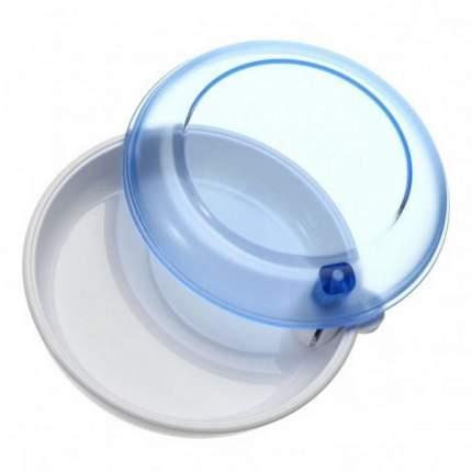 Контейнер для лекарств StaiNo пластиковый круглый 87x28 аквамарин Plastic Box DB17