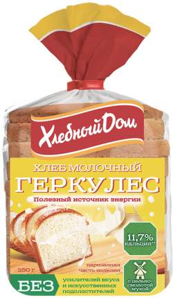 Хлеб Хлебный дом геркулес половинка нарезка молочный 250 г