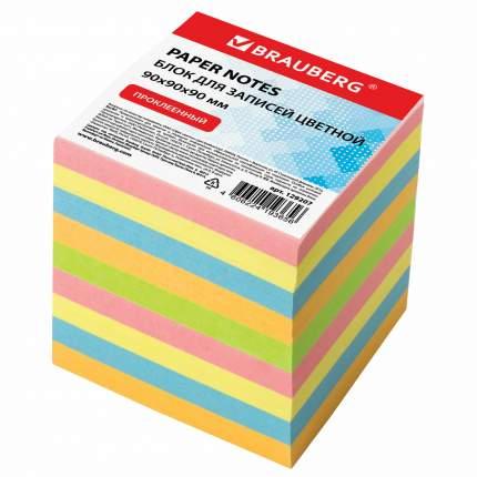 Блок для записей Brauberg 129207 проклеенный, куб 9х9х9 см, цветной
