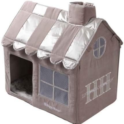 Домик для кошек Happy House CAT LIFESTYLE Вилла, серый, коричневый, 62x42x59см