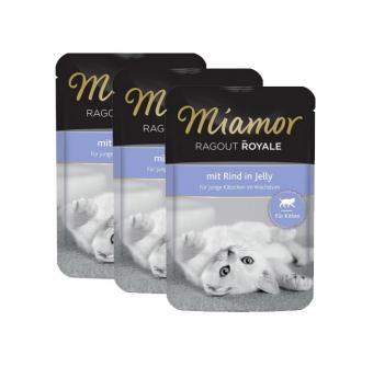 Влажный корм для котят Miamor Ragout Royal, с говядиной в желе, 22шт по 100г