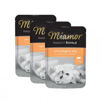 Влажный корм для котят Miamor Ragout Royal, с птицей в желе, 22шт по 100г