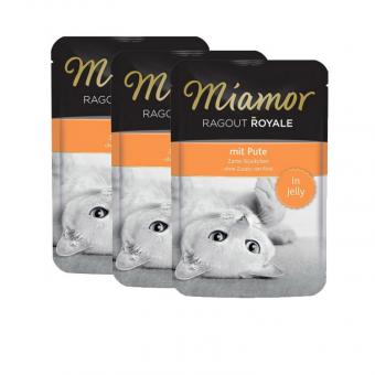 Влажный корм для кошек Miamor Ragout Royal, с индейкой в желе, 22шт по 100г