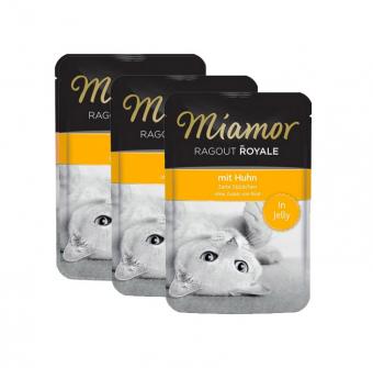 Влажный корм для кошек Miamor Ragout Royal, с курицей в желе, 22шт по 100г