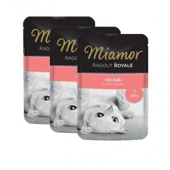 Влажный корм для кошек Miamor Ragout Royal, с телятиной в желе, 22шт по 100г