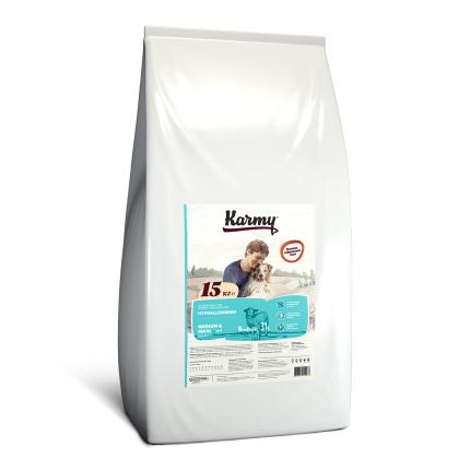 Сухой корм для собак Karmy Hypoallergenic Medium & Maxi, гипоаллергенный, ягненок, 15кг