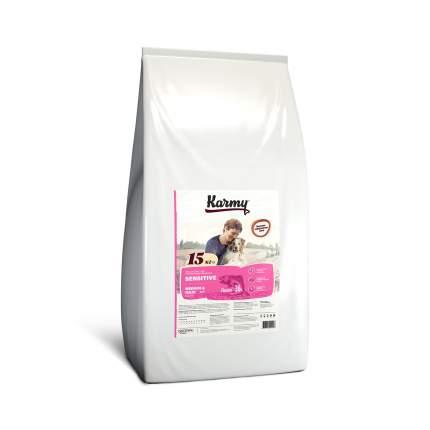 Сухой корм для собак Karmy Sensitive Medium & Maxi, средних и крупных пород, лосось, 15кг