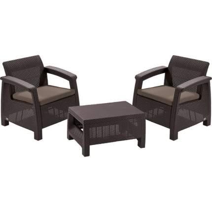 Комплект плетеной мебели Keter Набор мебели CORFU Weekend 17197786 Коричневый ротанг
