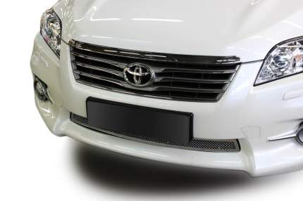 Накладка решетки бампера Fancycar Toyota RAV4 III XA30 , нижняя, сетка 1,5 мм, нерж. сталь
