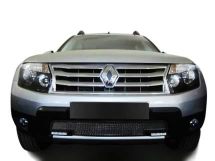 Накладка решетки бампера Fancycar Renault Duster , нижняя, сетка 1,5 мм, нерж. сталь