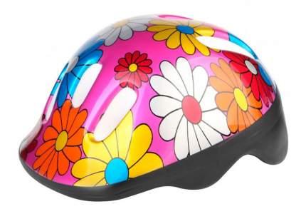 Шлем защитный MV6-2, Бело-красно-желтые цветы/600009