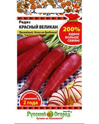 Семена овощей Русский огород 413218 Редис Красный великан 6 г