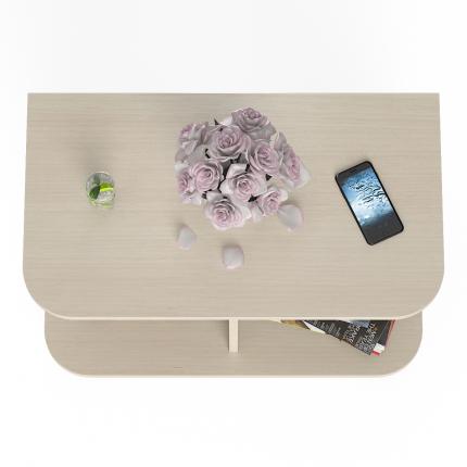 Стол журнальный на колёсиках Мебельный Двор СЖ-11 дуб, 80х45х56 см