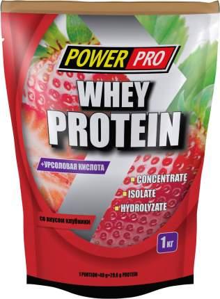 Протеин PowerPro Whey Protein, 1000 г, клубника