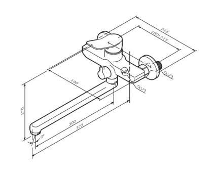Смеситель для ванной с душем AM.PM F85A90000