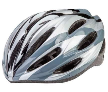 Велосипедный шлем Stels HW-1/600029 LU085168, серый/черный/белый, One Size