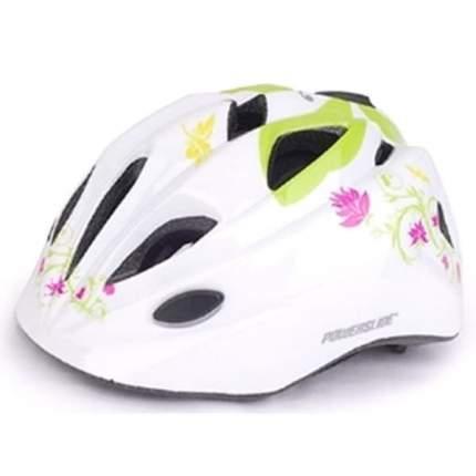 Шлем защитный HB6-5 (out-mold) белый с цветами/600119
