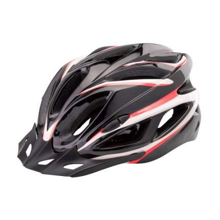 Шлем защитный FSD-HL022 (in-mold) L (58-60 см) чёрный с красными полосами/600130