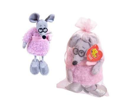 Мягкая игрушка Abtoys Мышка в розовом пальто, 16 см