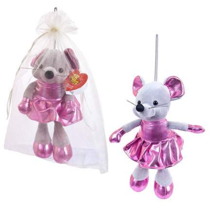 Мягкая игрушка Abtoys Мышка в розовой юбке, 15 см