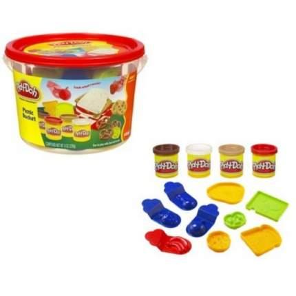 Набор для лепки Ведерочко Животные пластилин с формочками play-doh в ассортименте