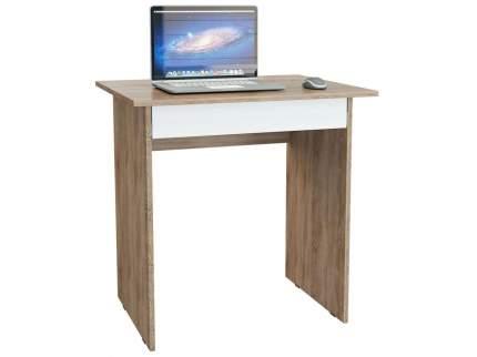 Компьютерный стол для ноутбука МФ Мастер Милан-2Я Дуб сонома / Белый