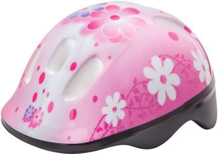 Шлем защитный MV6-2, Бело-розовый с цветами/600067