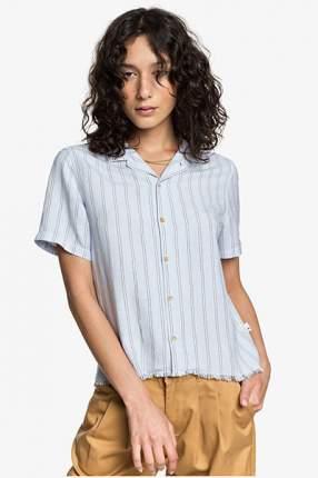 Женская льняная рубашка с коротким рукавом Womens Quiksilver, белый, XL