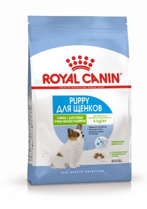Сухой корм для щенков ROYAL CANIN X - Small Puppy, рис, птица, 0.5кг