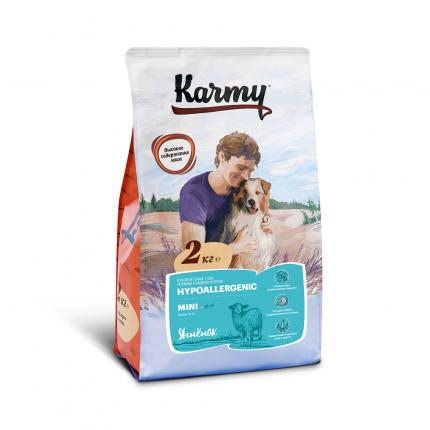 Сухой корм для собак Karmy Hypoallergenic Mini, мелкие породы,гипоаллергенный, ягненок,2кг