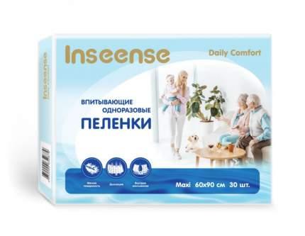 Пеленки INSEENSE Daily Comfort впитывающие одноразовые 60 х 90 30 шт.