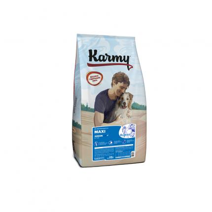 Сухой корм для щенков Karmy Maxi Junior, для крупных пород, индейка, 15кг