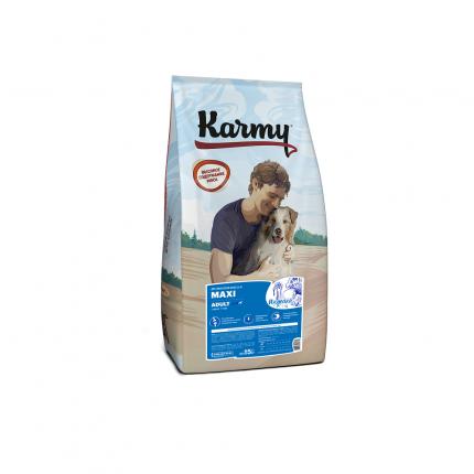 Сухой корм для собак Karmy Maxi Adult, для крупных пород, индейка, 15кг