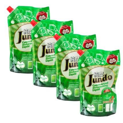 Концентрированный эко гель Jundo для мытья посуды Green tea with Mint 800 мл 4 шт