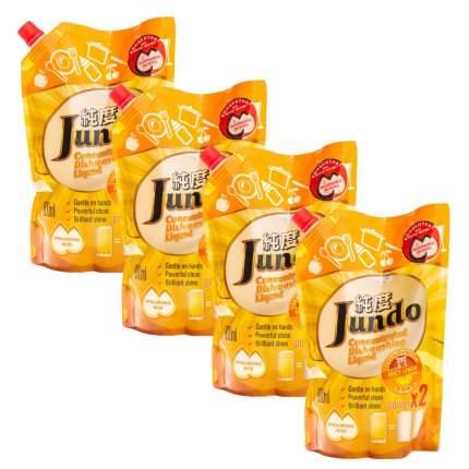 Концентрированный эко гель Jundo с гиалуроновой кислотой д/посуды Juicy Lemon 800 мл 4 шт