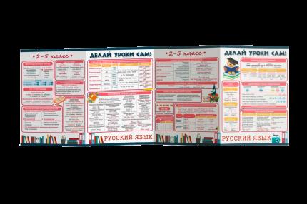 Буклет «Делай уроки сам» для 2-5 классов. Русский язык и Математика 7-10 лет