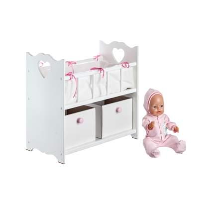 Кроватка для кукол с ящичками Кукольный мир