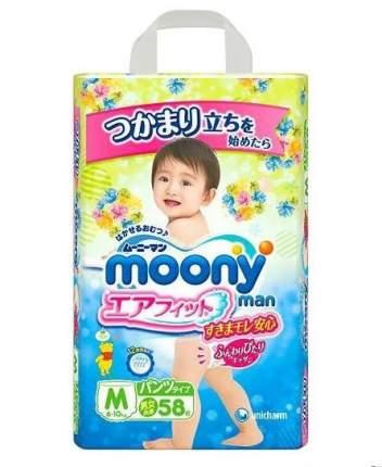 Подгузники-трусики Moony для подвижных детей M (6/10 кг), 58 шт.