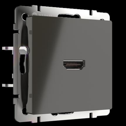 Розетка HDMI Werkel WL07-60-11 серо-коричневый