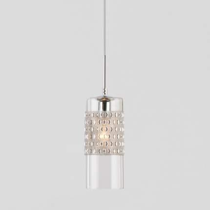 Подвесной светильник со стеклянным плафоном Eurosvet 50148/1 хром