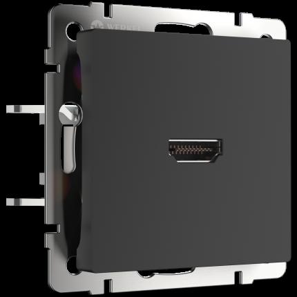 Розетка HDMI Werkel WL08-60-11 черный матовый