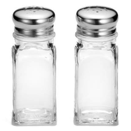 T&G Емкость для соли или перца Shaker Glass with Chrome (80 мл), 92 см, серебряная 13502