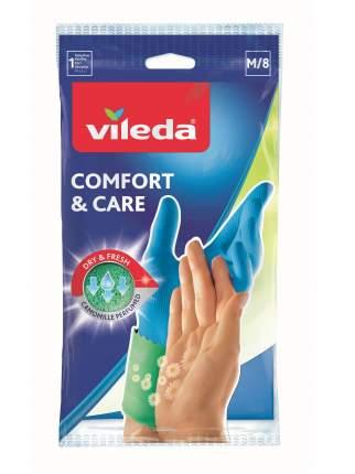 Перчатки для уборки Vileda Comfort & Care с кремом для чувствительной кожи рук размер M