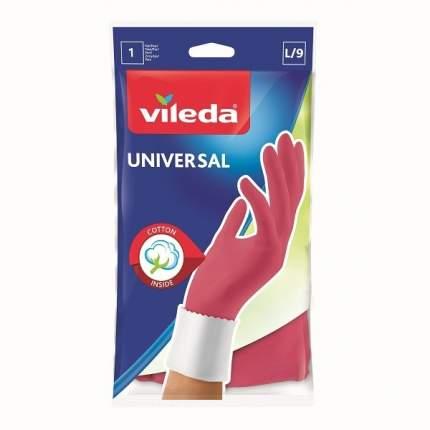 Перчатки розовые Универсал Стайл L